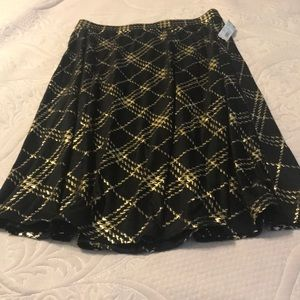 Black with gold foil skirt